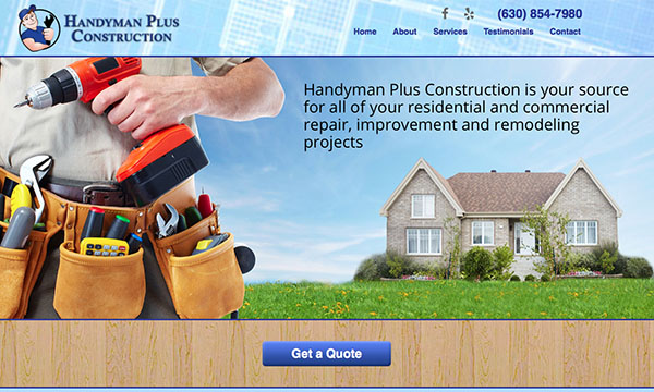 Handyman Plus Construction website