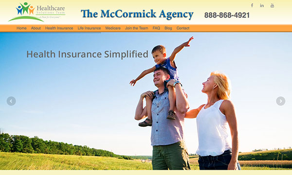 The McCormick Agency website